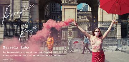 """Affiche du documentaire """"Parapluie rouge"""